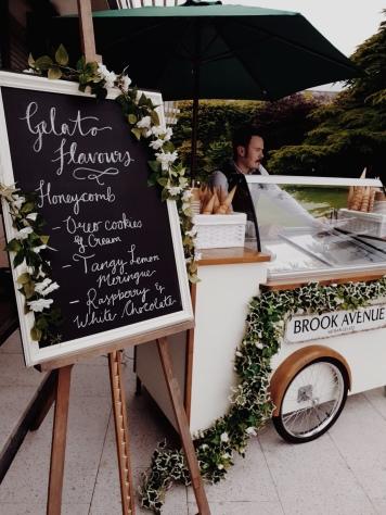 Wedding Gelato Cart